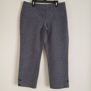 LOFT Original Crop Printed Pants size 2